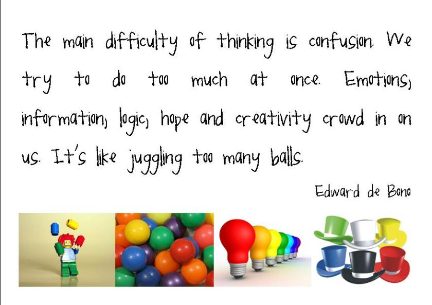 The main difficulty of thinking...